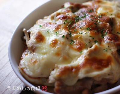 鶏肉と舞茸のチーズオーブン焼き