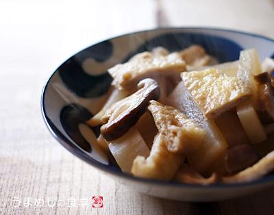 大根と椎茸と油揚げの煮物